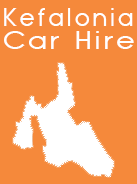 Kefalonia Shape white-orange -Car Hire in Kefalonia